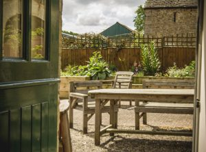 Door to patio from Bluebell