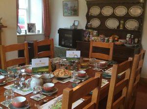 Dining room at Wydon Farm B&B